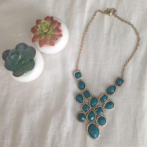 Statement collar necklace, Blue